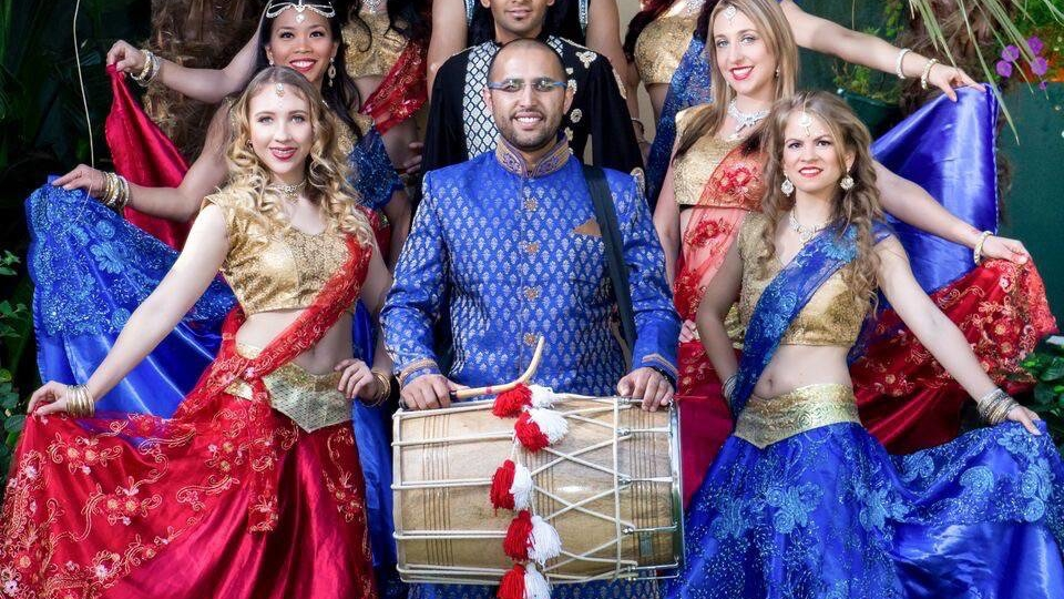 Bollywood Dancers and Dhol Drummer