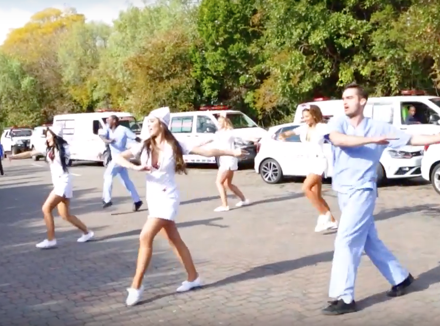 medical flash mob dance